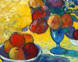 Pomme, pomme, pomme, pomme et notes fleuries - NA13-11